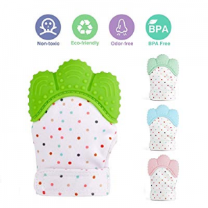 Baby Teething Mittens now 50.0% off ,Soft Food-Grade Silicone Baby Teether,BPA-Free Mitten Teethin..