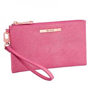 60.0% off Womens Leather Wristlet Lightweight Wallet - U+U (Upgrade Version) Cellphone Purse Clutc..