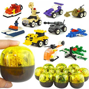 MCpinky 10 PCS Easter Eggs with Army Equipment Twisted Egg Toy Mini Building Blocks Set now 30.0% ..