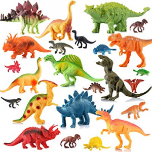 50.0% off EIAIA Dinosaur Toys for Boys Girls - 24 Pack Educational Dinosaur Family Includes 12 Lar..