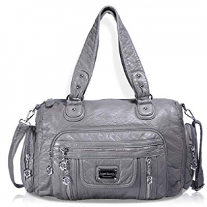 Angel Barcelo Womens Soft Leather Top-handle Bag Handbags and Purses Casual Shoulder Bags now 30.0..