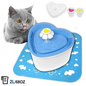 PETUOL Pet Fountain Cat Water Dispenser now 50.0% off , 2L/68 Oz Automatic Drinking Water Fountain..