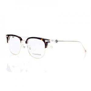 Eileen&Elisa Metal Semi-Rimless Glasses Frames for Men/Women Half Frame Eyeglasses with Clear Lens..