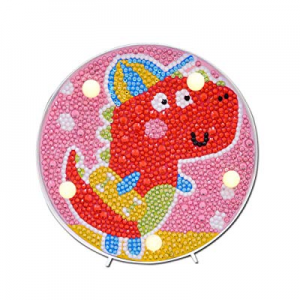 LED Lamp Diamond Painting for Kids now 30.0% off , Full Drill Painting by Number Kits with Frame A..