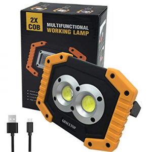 LED Work Light Rechargeable with USB Port now 15.0% off , 2X COB Light 20W 1000 Lumen Portable Lig..