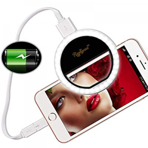 15.0% off Raphycool Selfie Light Ring Lights 36 LED Circle Light Clip On Phone Charger 1500mAh Pow..