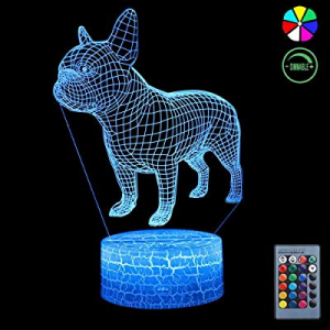 One Day Only!3D Night Light now 50.0% off , 7 Colors Changing Smart Switch Remote Control USB & Ba..