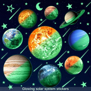Glow in The Dark Stars and Planets for Ceiling now 20.0% off , Bright Solar System Star Stickers G..