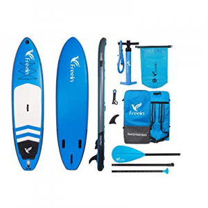 """20.0% off Freein Explorer SUP Inflatable Stand Up Paddle Board ISUP 10'2''/11"""" Long 33"""" Wide with .."""