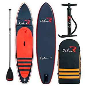 """Rokia R Inflatable Stand Up Paddleboard 11' (6"""" Thick) Premium SUP for All Skill Levels now 30.0% .."""