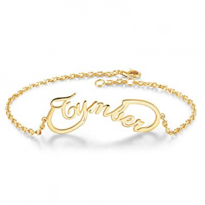 DayOfShe Personalized Name Bar Bracelet now 80.0% off , Stainless Steel Custom Engraved Inspiratio..