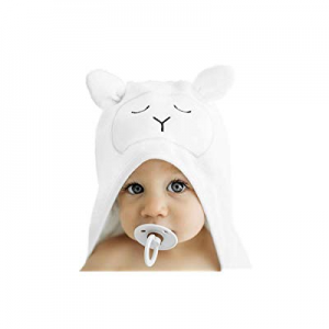 Lilyseed Premium Hooded Baby Towel and Washcloth Gift Set - Organic Ultra Soft Bamboo Baby Towels ..