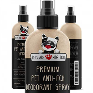 Premium Pet Anti Itch Spray & Scent Freshener! ALL NATURAL & Hypoallergenic! Soothes Dogs & Cats H..