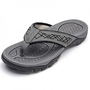 HOBIBEAR Mens Flip Flops Sport Thong Sandals Comfort for Outdoor Beach Shoes now 40.0% off