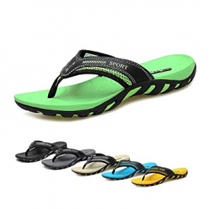 TUOBUQU Mens Comfortable Flip Flops Athletic Thong Sandals now 20.0% off