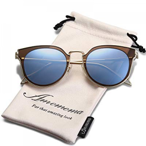 AMOMOMA Polarized Sunglasses for Women UV400 Mirrored Lens AS1711 now 70.0% off
