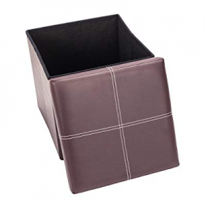 "80.0% off Lovinland 15"" Storage Ottoman Bench Folding Foot Rest Stools Padded Seat Storage Chest w.."