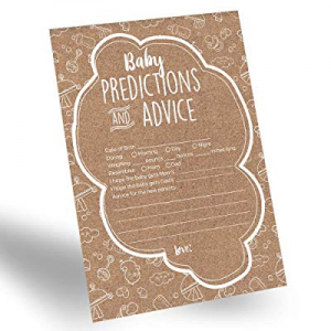 One Day Only!60-Pack Gender Prediction Cards now 50.0% off , Gender Neutral Baby Prediction Cards ..