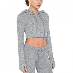 One Day Only!25.0% off Urhapc Women'S Long Sleeve Crop Top with Hoodies Workout Pullover Sweatshir..