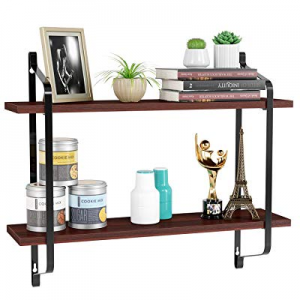 One Day Only!MVPower Floating Shelves Wall Mounted now 50.0% off , Rustic Wood Wall Storage Rack f..