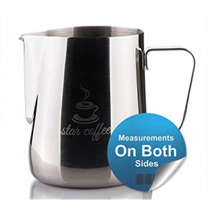 Star Coffee 20 now 40.0% off , 12 or 30oz Stainless Steel Milk Frothing Pitcher - Measurements on ..