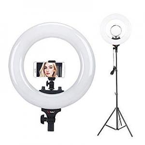 """Tolifo 14"""" Bi Color LED Ring Light with Stand now 30.0% off ,Camera Mount, Mobile Holder,Makeup Mi.."""