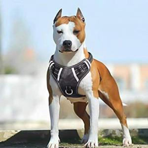 30.0% off Big Dog Harness No Pull Adjustable Pet Reflective Oxford Soft Vest for Large Dogs Easy C..