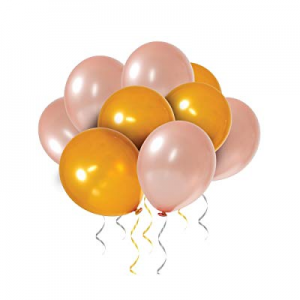 60-Pack Gold & Rose Gold Balloons now 30.0% off , Gold & Rose Gold Latex Balloons for Wedding Part..