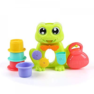 Beebeerun Frog Bath Toys with 4 Stackable Cups for Boys - Girls-Toddlers now 35.0% off