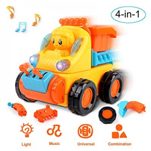 50.0% off Beebeerun Take Apart Toy Construction Vehicles Kit for Kids Build Your Own Car Kit 4 in ..