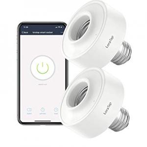 LoraTap Smart WiFi Bulb Socket E26 2 Pack Wi-Fi LED Light Bulb Lamp Timer Holder Adapter now 10.0%..