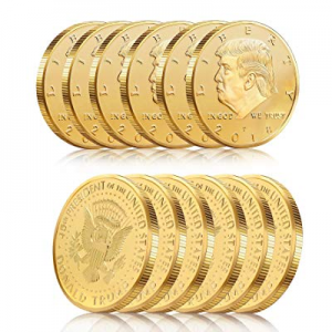15.0% off 12Pack-Donald Trump Gold Coin Token 2018 24kt Gold Plated Collectible 45th President of ..