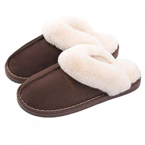 60.0% off SOSUSHOE Women Slippers Fluffy Fur Slip On House Slippers Soft and Warm House Shoes for ..