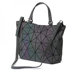 30.0% off HotOne Geometric Purse and Handbags Luminous bags Shard Lattice Eco-friendly Leather Hol..