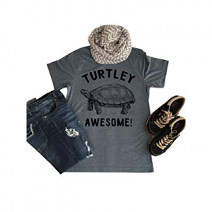 Nulibenna Women Summer Shirts Funny Graphic Turtley Awesome Short Sleeve Tee Tops now 50.0% off