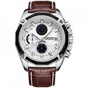 30.0% off JEDIR Men's Chronograph Watch Multifunction Quartz Watch Classic Simple Design Date Cale..