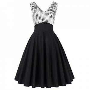 Belle Poque A-Line High Stretchy Vintage Sleeveless Party Dresses for Women now 65.0% off