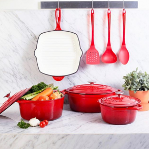 Enameled Cast Iron Cookware from Cuisinart @ Amazon