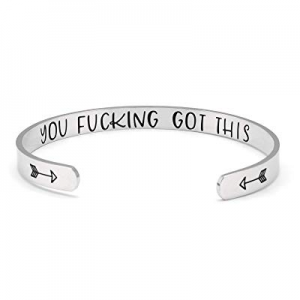 Fesciory Inspirational Bracelets for Women now 50.0% off ,Stainless Steel Engraved Personalized Po..