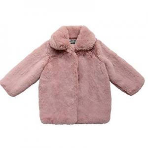 Teeker Grils Fur Fleece Coat Winter Jacket Hooded Warm Outwear now 70.0% off