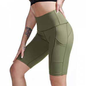 One Day Only!TYUIO High Waist Yoga Shorts Women Gym Workout Short Pant Leggings with Pockets now 4..