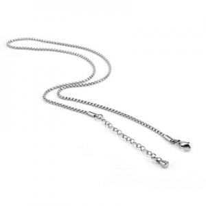 XIUDA 2-3 mm 20-22 Inch Square Rolo Stainless Steel Chain Necklace Women Men Jewelry now 55.0% off