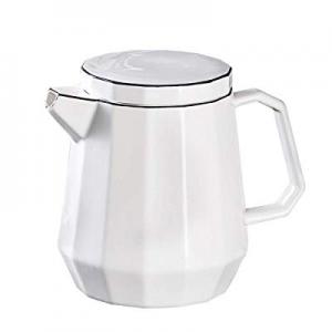 50.0% off Teapot YOLIFE Modern Style - Geometry Porcelain Tea Pot with Black Line Decoration Simpl..