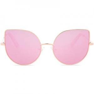 SojoS Kids Fashion Cat Eye Round Sunglasses For Girls UV Protection Mirror Lens SK101 SK301 SK303 ..