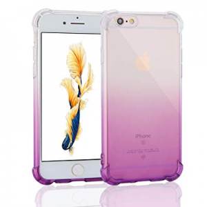 Case for iPhone 6/iPhone 6s now 77.0% off , Uhans Crystal Clear Gradient Shock Absorption Anti-Scr..