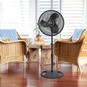 """Lasko 16"""" Oscillating Pedestal Stand 3-Speed Fan, Model #S16500, Black@ Walmart"""