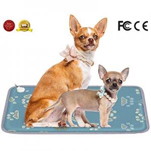 Zlack Pet Heating Pad now 70.0% off , Dog Cat Bed Mat Electric Heating Pad Indoor Waterproof Adjus..