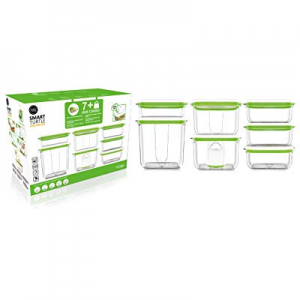 FOSA Vacuum Food Storage System Reusable Container Deluxe Set with Vacuum and 7 Reusable container..