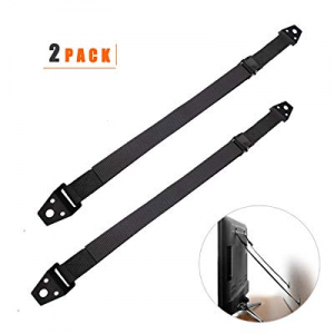 TV and Furniture Anti-Tip Safety Straps All Metal Heavy Duty Earthquake Secure Strap | Baby Proofi..