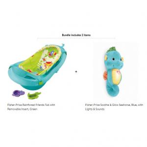 Fisher-Price Bathe & Soothe Set, Rainforest @ Walmart